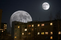 作月球人 免版税库存照片