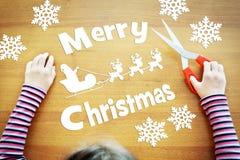 作梦关于圣诞节假日的小女孩 库存图片