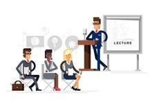 作演讲的现代企业老师 库存例证