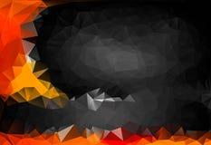 作用几何三角黑色和桔子多彩多姿的抽象背景  免版税库存图片