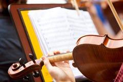 作用小提琴 免版税库存照片