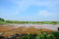 作用环境从化学制品和重金属在土壤 免版税库存照片