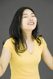 作白日梦亚裔的少妇 库存照片