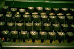 作者概念关键董事会打字机 库存图片