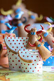 作者玩具母牛 免版税图库摄影