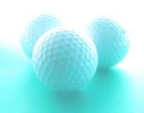 作高尔夫球 免版税库存图片