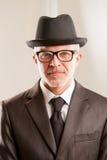你好先生我是先生帽子 免版税库存照片