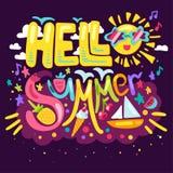 你好夏天概念 向量例证