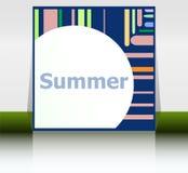 你好夏天海报 夏天背景 影响海报,框架 节日快乐卡片,愉快的假期卡片 免版税库存图片