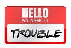 你好我的名字是麻烦 库存例证