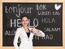你好用不同的语言 免版税库存照片