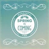 你好,春天来临 免版税库存照片