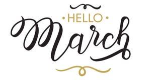 你好,马赫-印刷术,手字法 库存图片