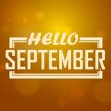 你好, 9月弄脏了秋天背景 背景看板卡prelambulator镶边向量 库存图片