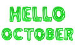你好10月,绿色 库存图片