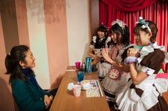 佣人咖啡馆在秋叶原,东京,日本 库存照片