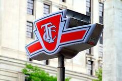 佣金符号多伦多运输 免版税库存图片
