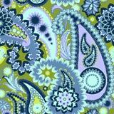 佩兹利五颜六色的背景。 免版税图库摄影