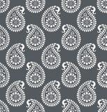 佩兹利无缝的灰色传染媒介样式 库存图片
