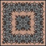 佩兹利的抽象几何样式 免版税库存图片