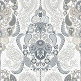 佩兹利花卉无缝的样式 印第安装饰品 传染媒介装饰花和佩兹利 种族样式 设计为 向量例证