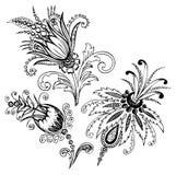 佩兹利花卉设计 图库摄影