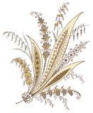 佩兹利花卉设计 库存图片