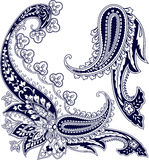 佩兹利装饰品元素 免版税库存图片