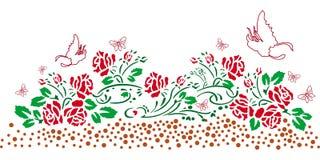 佩兹利mehndi花卉设计 免版税库存图片