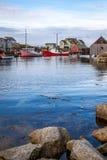 佩吉的小海湾港口垂直 免版税库存图片