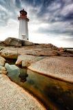 佩吉的小海湾灯塔新斯科舍,加拿大 免版税库存图片