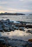 佩吉的小海湾黎明垂直II 库存图片