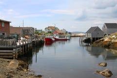 佩吉的小海湾,新斯科舍 免版税库存照片