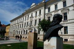 佩奇-匈牙利的主要城市广场 佩奇是一个欧洲盖帽 库存图片