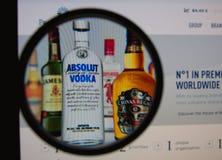 佩尔诺利口酒里卡德 免版税库存图片
