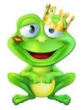 被亲吻的青蛙王子 库存例证