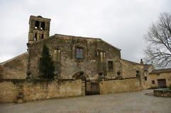 佩德拉萨中世纪村庄,西班牙 库存图片