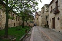 佩德拉萨中世纪村庄,西班牙 库存照片