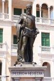 佩德罗de埃雷迪亚雕象  免版税库存图片