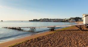 佩恩顿沿海岸区在Torquay和Brixham附近的德文郡英国 免版税库存照片