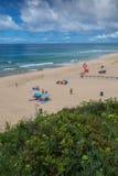 佩拉尔塔海滩在Lourinha,葡萄牙 免版税图库摄影