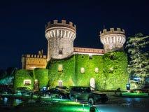 佩拉拉达城堡在晚上 免版税库存照片