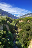 佩斯卡拉河峡谷 免版税库存图片