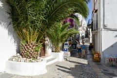 佩斯基奇狭窄的街道普利亚的,意大利 免版税库存照片