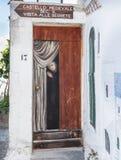 佩斯基奇镇, Gargano,普利亚,意大利 库存图片