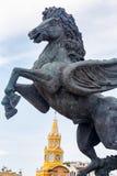 佩格瑟斯雕象 免版税库存图片