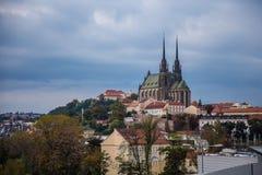 佩特罗夫教会,布尔诺 免版税图库摄影
