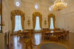 佩特洛夫宫殿的内部,莫斯科,俄罗斯 免版税图库摄影