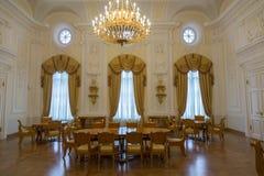 佩特洛夫宫殿的内部,莫斯科,俄罗斯 库存图片