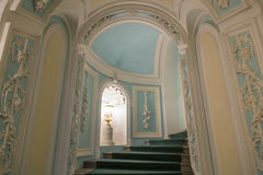 佩特洛夫宫殿的内部,莫斯科,俄罗斯 免版税库存照片